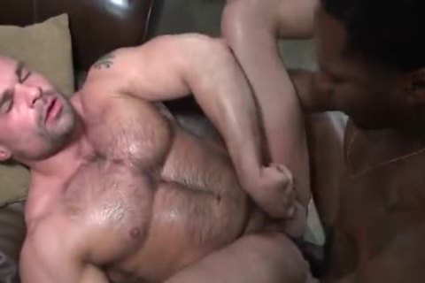 Six chap Interracial fuckfest