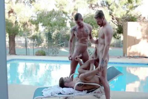 threesome Pool Party